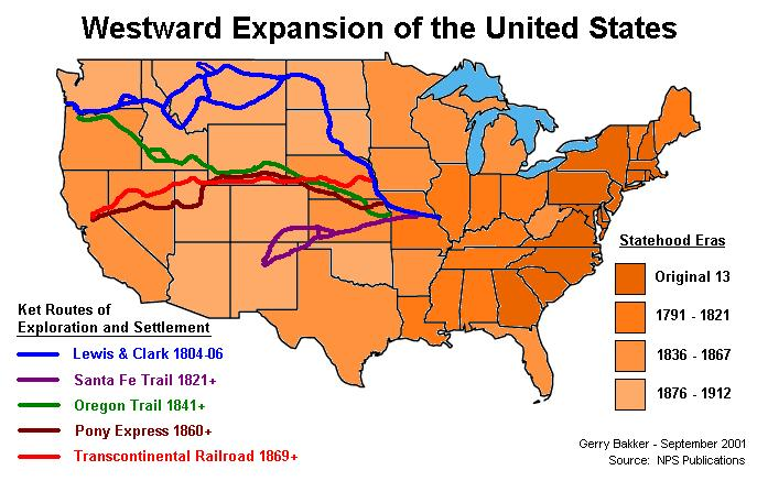 TimelineMap Of Westward Expansion Western Expansion - Map of us in 1821